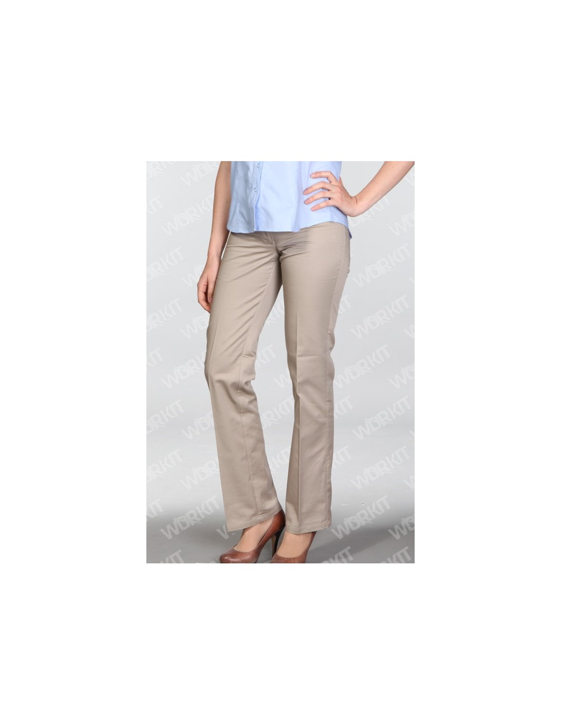 Pantalon Gabardina Mujer Classic Fit Workit
