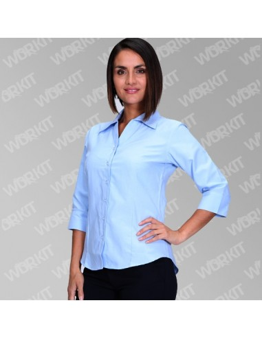 Blusa Oxford 55% poly 45% algodon